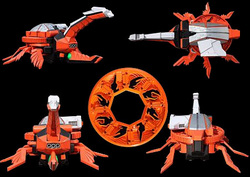 Samurai Zords - Power Rangers Armageddon